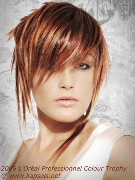 Креативная стрижка и окрашивание на средние волосы