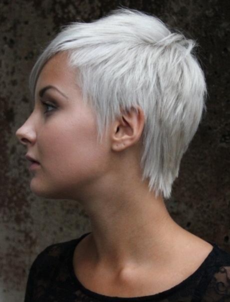 Korte grijze kapsels - Loodverf blanc reactie faire ...
