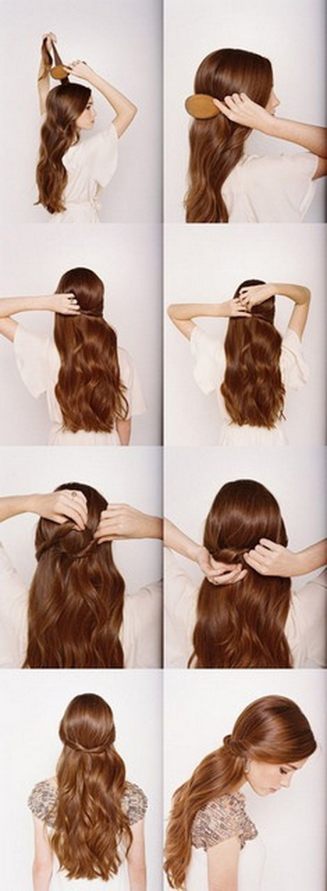 Simpele Opsteekkapsels Halflang Haar