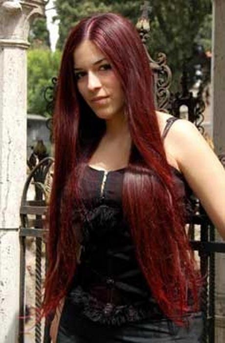 Rood Haar Verven Naar Bruin
