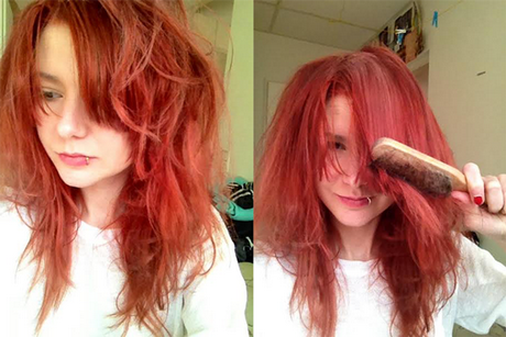 verboden blond rood haar