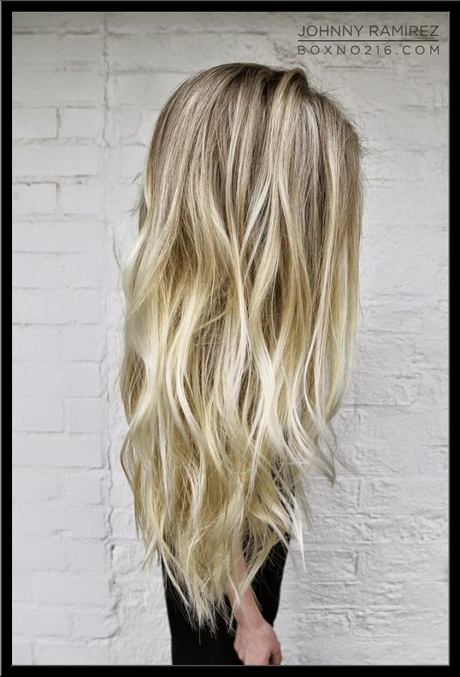 Lowlights Blond Haar