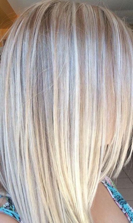 Blond haar met m ches - Bob silberblond ...